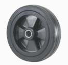 Black Rubber Wheel with Nylon Core
